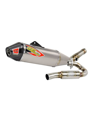 Exhaust System T-6 Euro Stainless With Titanium Canisters & Carbon End Cap PRO CIRCUIT 0111415H