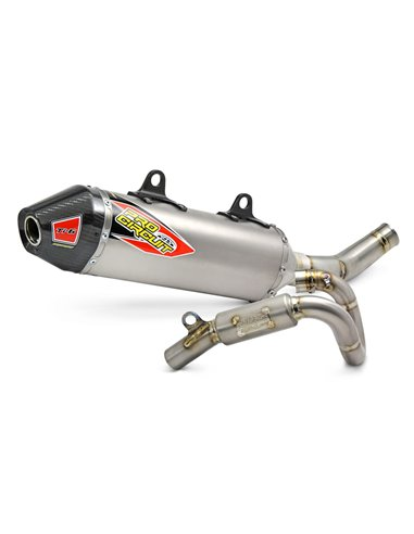 Exhaust System T-6 Euro Stainless With Titanium Canisters & Carbon End Cap PRO CIRCUIT 0151635H