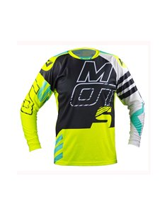 Maillot trial MOTS STEP5 jaune Fluo XS