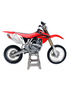 Complete Yoshimura RS-2 exhaust line, stainless steel, aluminum silencer and stainless cover, Honda CRF150R / RB