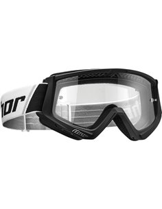 THOR Goggle Combat Youth Bk/Wh 2601-2357