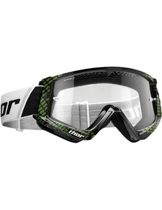 THOR Goggle Combat Youth Cap Bk/Lm 2601-2373