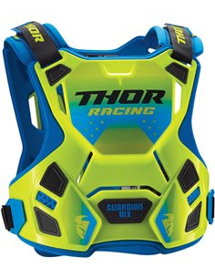 THOR Child Guardian Mx Protective Plastron Flo Green Sm / Md 2701-0855