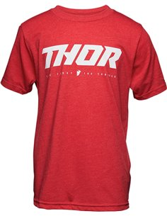 THOR Tee S20 Youth Loud 2 Red Sm 3032-3072