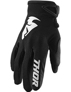 Guantes motocross Thor S20 Sector Blk Xs 3330-5853