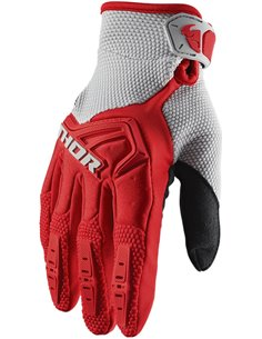 THOR Glove S20 Youth Spectrum Rd/Gy Sm 3332-1458