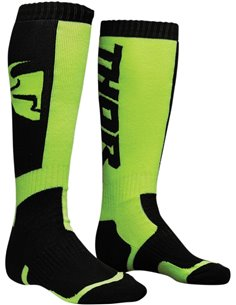 Calcetines motocross THOR S8 Negro/Lime 6-9 3431-0375