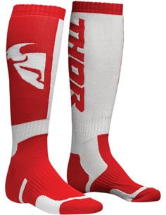 Calcetines motocross THOR S8 Red/White 10-13 3431-0380