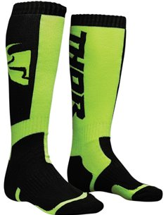 THOR Youth Mx S8Y Sock Black/Lime One Size 3431-0383