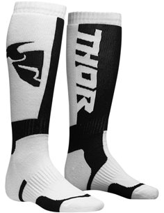 Calcetines motocross niño(a) THOR S8 White/Negro One Size 3431-0386