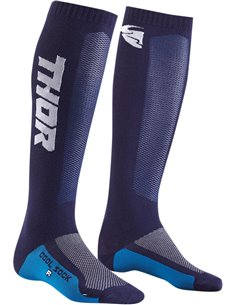 THOR niño(a)Mx Cool S9Y Calcetines motocross Navy/White 1-6 3431-0430