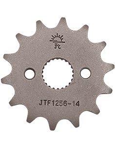 Front drive sprocket JTF1256.14 14 teeth 420 PITCH NATURAL STEEL