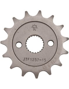 Front drive sprocket JTF1257.15 15 teeth 428 PITCH NATURAL STEEL