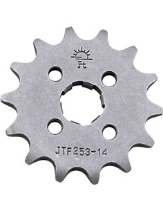 Front drive sprocket JTF253.14 14 teeth 420 PITCH NATURAL STEEL