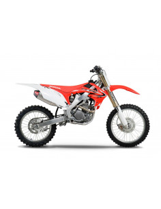 Complete exhaust line Yoshimura RS-4, stainless steel, aluminum silencer and carbon cover, Honda CRF250R