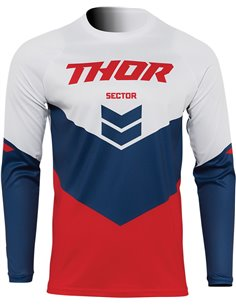JERSEY Thor-MX 2022 SECTOR CHEV RD/NV LG 2910-6461
