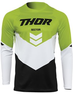 JERSEY Thor-MX 2022 SECTOR CHEV BK/GN MD 2910-6474