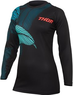 Camisola de motocross mulher Thor-MX 2022 Sector Urth preto/teal XS 2911-0217