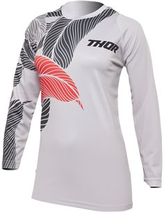 Camisola de motocross mulher Thor-MX 2022 Sector Urth light/gray/fire/coral L 2911-0225
