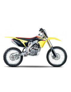 Complete exhaust line Yoshimura RS-4, stainless steel, aluminum silencer and carbon cover, Suzuki RM-Z250