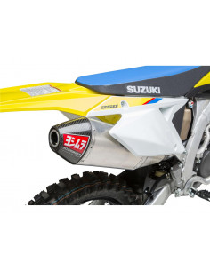 Complete Yoshimura Signature RS-4 exhaust line, stainless steel, Aluminum silencer, Suzuki RM-Z250