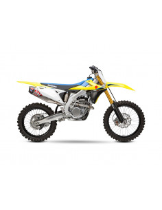 Complete exhaust line Yoshimura Signature RS-12, stainless steel, aluminum silencer, Suzuki RM-Z250